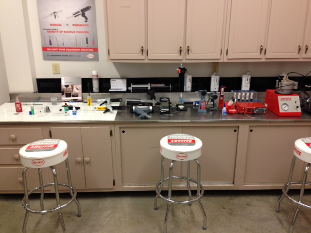adhesives, dispensing, and curing equipment showroom